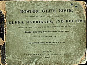 Antique Boston Glee Book Glees, Madrigals, & Rounds (Image1)