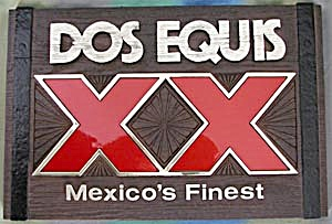 Vintage Dos Equis Xx Sign