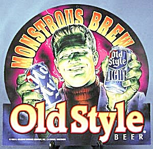Monstrous Brew Old Style Beer Frankenstein Sign (Image1)