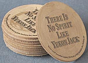 Vintage Yukon Jack Canadian Liqueur Coasters (Image1)