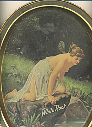 White Rock Bottled Beer Fairy Oval Tray (Image1)