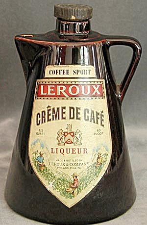 Leroux Cream De Cafe Liqueur Pitcher