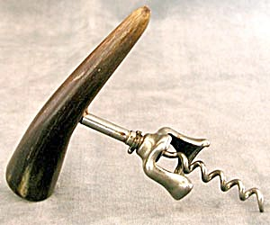 Vintage Corkscrew With Horn Handle