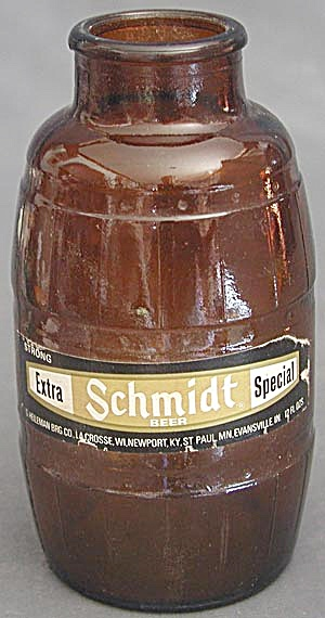 Schmidt Brown Glass Beer Bottle
