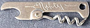 Vintage Nifty Vaughan Metal Corkscrew Bottle Opener (Image1)