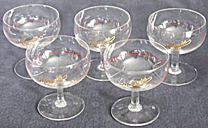 Vintage Mercedes Miniature Champagne Glasses