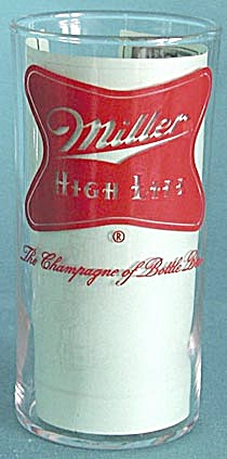 Vintage  Miller High Life Bar Beer Drinking Glass (Image1)