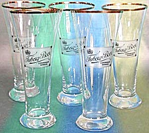 Vintage Tuborg Beer Glasses Set Of 5