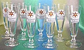 Vintage Wurzburger Beer Glasses Set Of 8