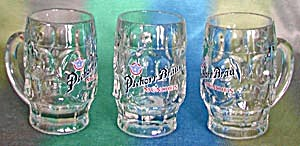 Vintage Pschorr Brau Mugs Set Of 3