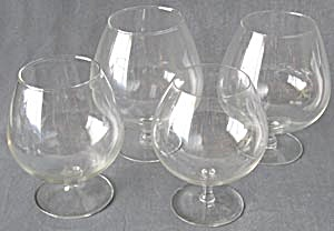 Vintage Glass Brandy Snifters Set Of 4