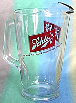 Vintage Schlitz Glass Pitcher (Image1)