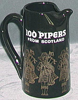 Vintage 100 Pipers Pinched Spout Pitcher