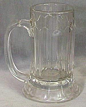 Vintage Heavy Glass Beer Tankard