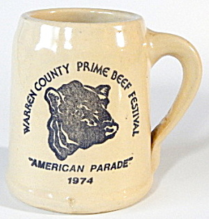 Monmouth Western Pottery Beer Mug Beef Festival Parade