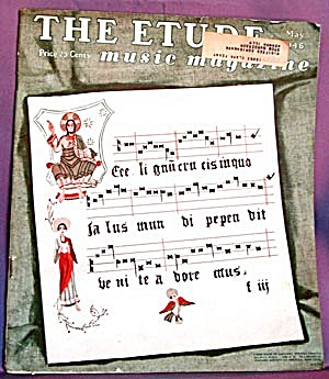 Vintage The Etude Music Magazine 1946 (Image1)