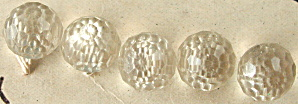 Le Chic Clear Faceted Plastic Sphere Buttons