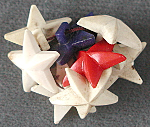 Plastic Star Buttons Set Of 8