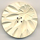 Carved Painted White Large Button