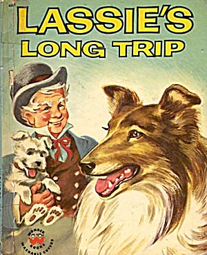 Vintage Lassie's Long Trip Home Wonder Book (Image1)