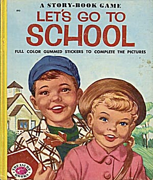 Vintage A Story-book Game Let's Go To School