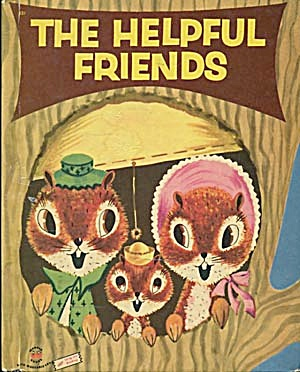 Vintage The Helpful Friends Wonder Book (Image1)