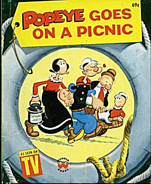 Vintage Popeye Goes On A Picnic Wonder Book (Image1)