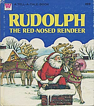 Vintage Rudolph The Red Nose Reindeer Tell-A-Tale Book (Image1)