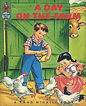 Vintage A Day On The Farm Elf Book