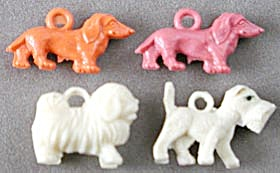 Vintage Celluloid Dog Charms