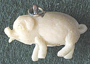 Vintage Celluloid Pig Charm (Image1)