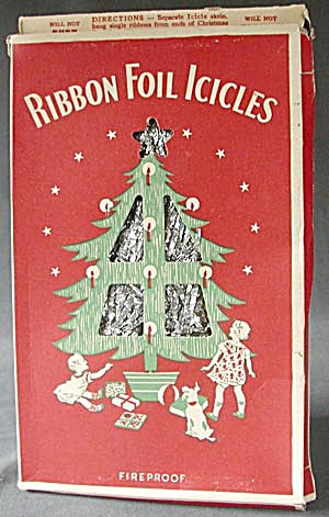 Vintage Ribbon Foil Icicles in Original Box (Image1)
