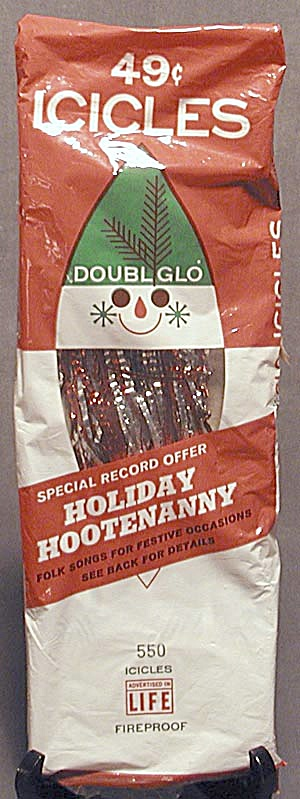 Vintage Doubl Glo Red & Silver Icicles in Original Box (Image1)