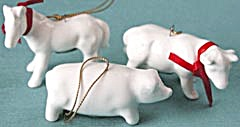 White China Cow, Horse & Pig Christmas Ornaments (Image1)