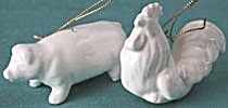 White China Rooster & Pig Christmas Ornaments (Image1)