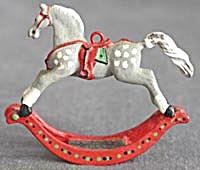 Pewter Rocking Horse Christmas Ornament (Image1)