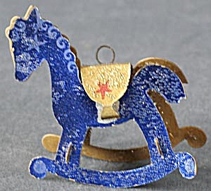 Vintage Paper Rocking Horse Christmas Ornament (Image1)