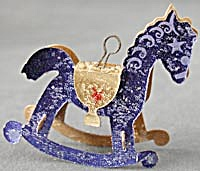 Vintage Paper Rocking Horse Christmas Ornament