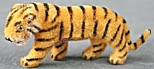 Wagner Kunstlerschutz German Flocked Tiger Ornament