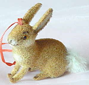 Wagner Kunstlerschutz Flocked Rabbit Ornament
