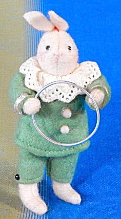 Cotton Batting Bunny Rabbit Ornament (Image1)