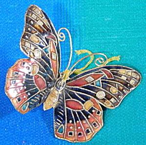 Black Enamel Butterfly Christmas Ornament (Image1)