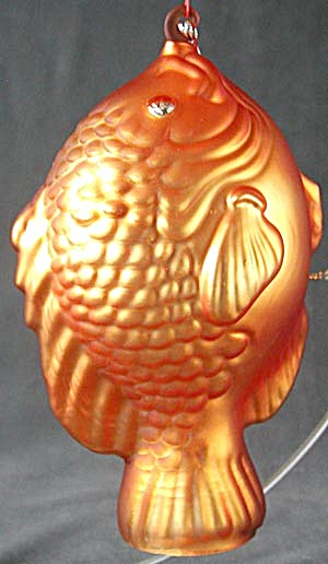 Large Mercury Blown Glass Fish Christmas Ornament (Image1)