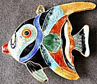 Enamel Angelfish Christmas Ornament (Image1)