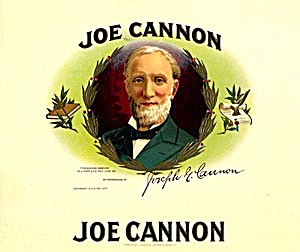 Cigar Box Label Joe Cannon (Image1)