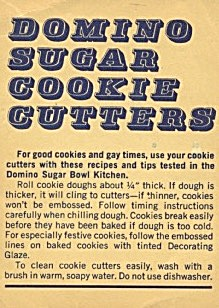 Domino Sugar Cookie Cutters Care & Recipes