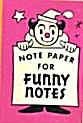 Cracker Jack Toy Prize: Note Paper Funny Notes