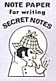 Cracker Jack Toy Prize: Note Paper Secret Notes