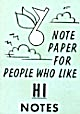 Cracker Jack Toy Prize: Note Paper People Like Hi Notes (Image1)