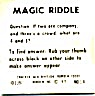Cracker Jack Toy Prize: Magic Riddle